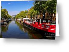 Brouwersgracht Canal In Amsterdam. Netherlands. Europe Greeting Card