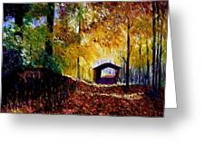 Brown County Covered Bridge Greeting Card