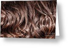 Brown Curly Hair Background Greeting Card