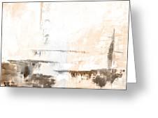 Brown Gray Abstract 12m4 Greeting Card