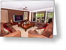 Brown Living Room Greeting Card