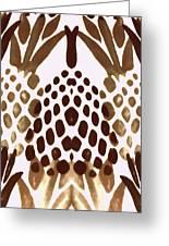 Brown Pineapple Greeting Card