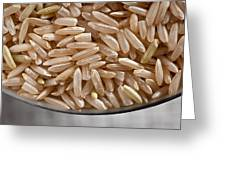 Brown Rice In Bowl Greeting Card by Steve Gadomski