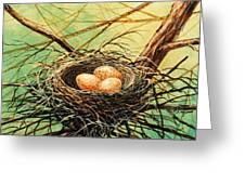 Brown Speckled Eggs Greeting Card