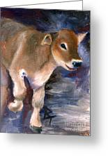 Brown Swiss Calf Aceo Greeting Card