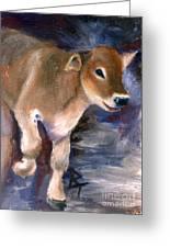 Brown Swiss Calf Aceo Greeting Card