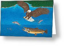 Brown Trout Eagle Rainbow Trout Art Print Giclee Wildlife Nature Lake Art Fish Artwork Decor Greeting Card