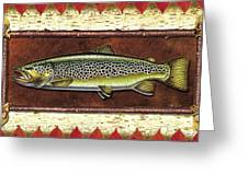 Brown Trout Lodge Greeting Card by JQ Licensing