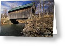 Brownsville Covered Bridge - Brownsville Vermont Greeting Card