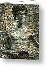 Bruce Lee Mosaic Greeting Card