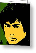 Bruce Lee Pop Greeting Card