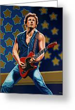 Bruce Springsteen The Boss Painting Greeting Card