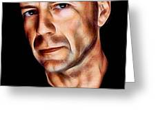 Bruce Willis Collection Greeting Card