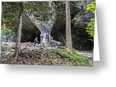 Bruce's Caves Greeting Card