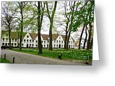 Bruges Begijnhof 2 Greeting Card