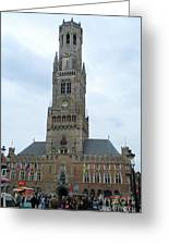 Bruges Belfry 1 Greeting Card