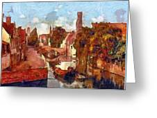 Bruges Canal View Greeting Card