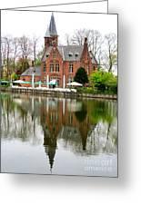 Bruges Kasteel Minnewater Greeting Card