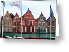 Bruges Markt 6 Greeting Card