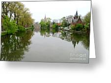 Bruges Minnewater 2 Greeting Card