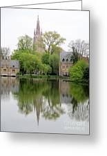 Bruges Minnewater 3 Greeting Card