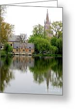 Bruges Minnewater 5 Greeting Card