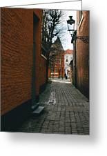 Bruges Orange Street Greeting Card