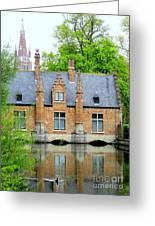 Bruges Sashuis 4 Greeting Card