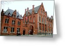 Bruges Sashuis 5 Greeting Card