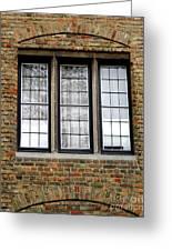 Bruges Window 3 Greeting Card
