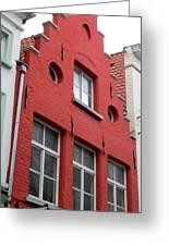 Bruges Window 7 Greeting Card