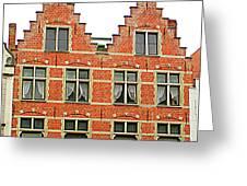 Bruges Window 9 Greeting Card