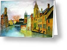 Brugge Belgium Canal Greeting Card
