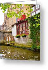 Bruge Canal Greeting Card
