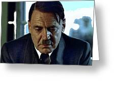 Bruno Ganz As Adolf Hitler Publicity Photo Number Two   Downfall 2004 Color Added 2016 Greeting Card
