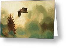 Bruno Liljefors Swedish, 1860-1939, Landscape With Snipe Greeting Card