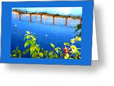 Brunswick Maine Walking Bridge Greeting Card