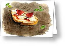 Bruschette Con Fichi Greeting Card