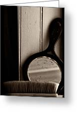 Brush And Mirror Greeting Card