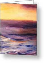 Brushed 6 - Vertical Sunset Greeting Card