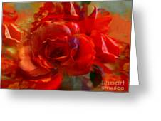 Brushed Flowers Greeting Card