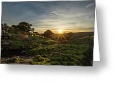 Brushy Peak Sunset Greeting Card