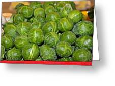 Brussel Sprouts Greeting Card