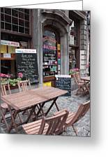 Brussels - Restaurant Chez Patrick Greeting Card