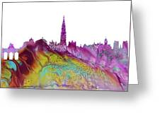 Brussels City Skyline 2 Greeting Card