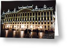 Brussels Lights At Plaza Greeting Card