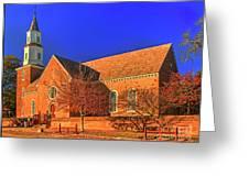 Bruton Parish Church In The Warm Autumn Afternoon Sunlight 6477tmt Greeting Card