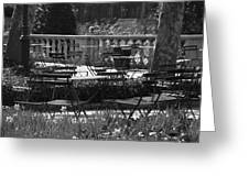 Bryant Park In Black And White Greeting Card