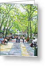 Bryant Park Nyc Greeting Card