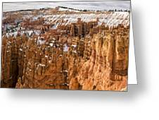 Bryce Canyon Winter Panorama - Bryce Canyon National Park - Utah Greeting Card